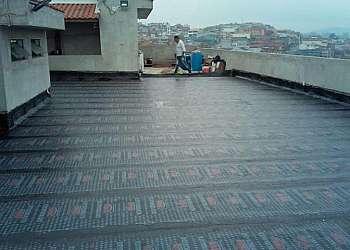 Serviço de impermeabilização com manta asfaltica