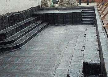 Impermeabilização de piscinas com manta asfaltica